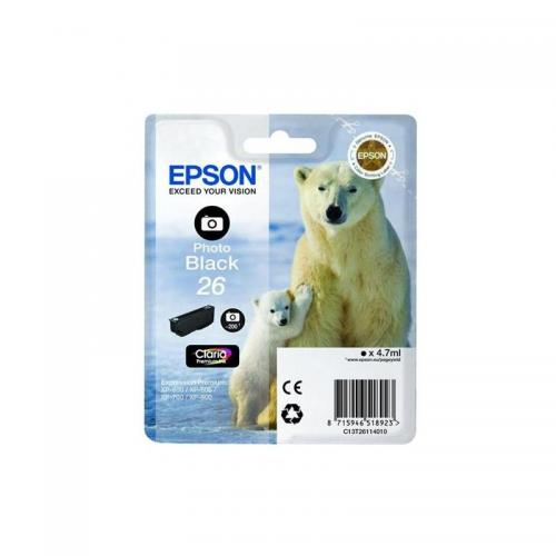 Epson 26 Ink Cart Photo Black T26114010