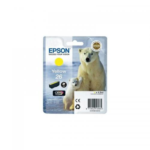 Epson 26 Ink Cart Yellow T26144010