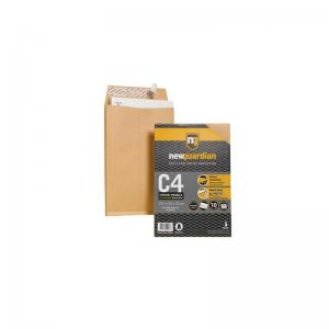 New Guardian Manilla C4 Gusset Envelopes (Pkd 10)