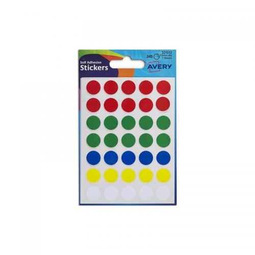 Avery Self Adhesive Stickers - Circle (245 labels per pack)