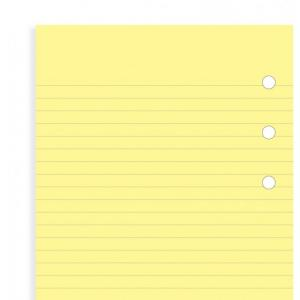 Filofax Yellow ruled notepad