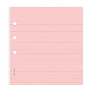 Filofax Pink ruled notepaper