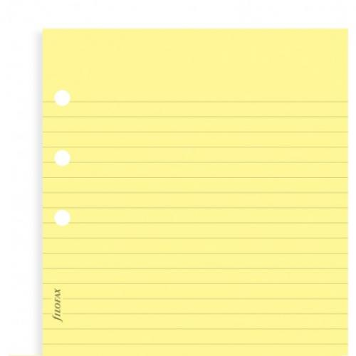 Filofax Yellow ruled notepaper