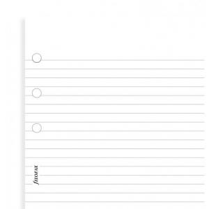 Filofax White ruled notepaper value pack