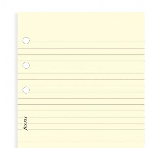 Filofax Cotton cream ruled notepaper