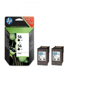 HP 56 Inkjet Cart Black Pkd2 C9502AE