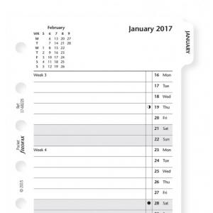 Filofax Month To View Tabbed 2017
