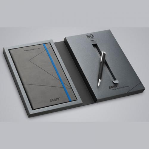 "Lamy Notebook Set ""50"" with Logo 204M+ Softblack"