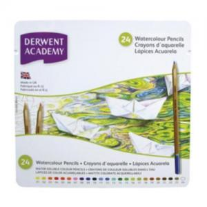 Derwent Academy Assorted Watercolour Pencils (Tin of 24)