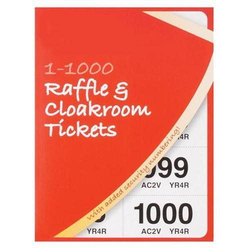 Cloakroom-Raffle Tickets Numbered 1-1000