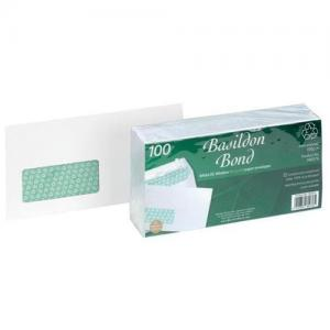 Basildon Bond White DL Envelopes (Pkd 100)