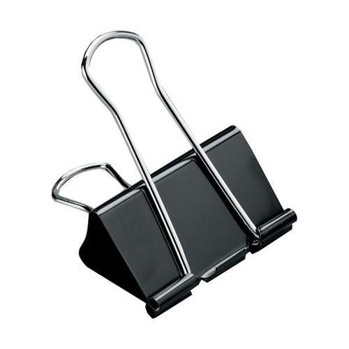 5 Star Office Foldback Clips - Black (Pkd 12)