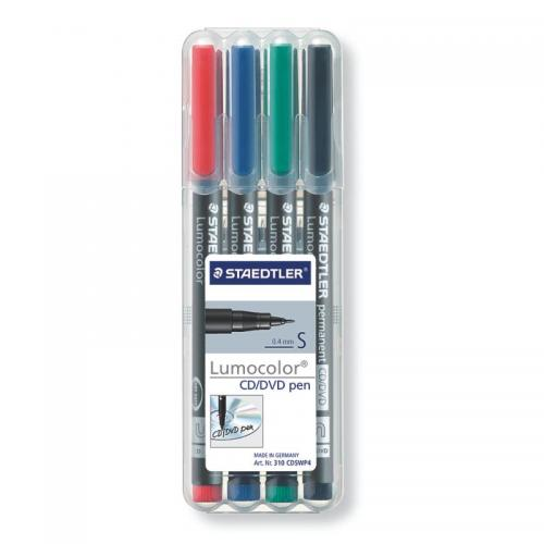 Staedtler Lumocolor CD/DVD/Special Markers - Wallet of 4