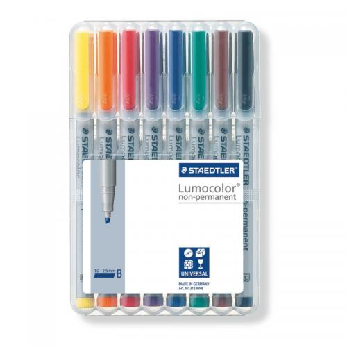 Staedtler Lumocolor Non-Permanent - Broad (Assorted Box)
