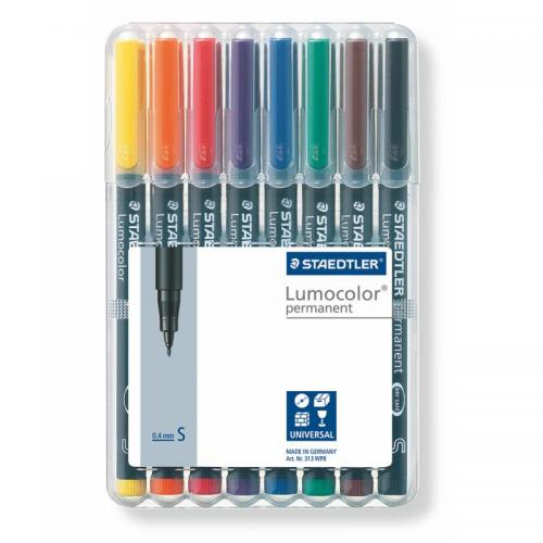 Staedtler Lumocolor Permanent Markers Superfine Assorted Box