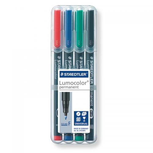 Staedtler Lumocolor Permanent Markers Fine Assorted Box