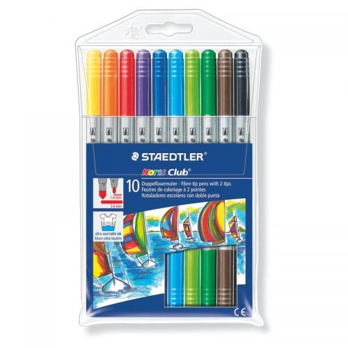 Staedtler Noris Club Double-Ended Fibre Tips Assorted