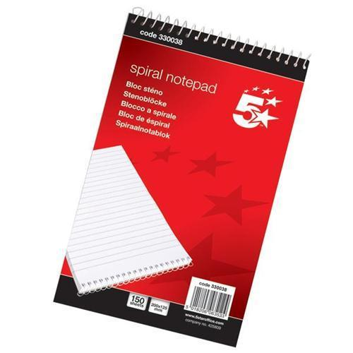 5 Star Office Shorthand Wirebound Note Pad (300 Pages)