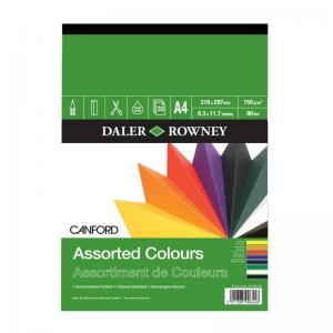 Canford Assorted Colour Pad 150gsm