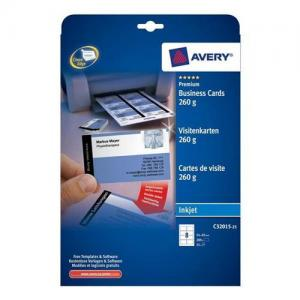 Avery Inkjet Business Cards Dble-sided Matt White