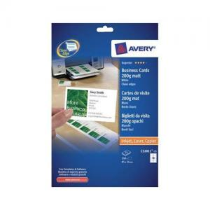 Avery Inkjet & Laser Business Cards Single Sided