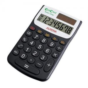 Aurora EcoCalc EC101 Handheld Calculator