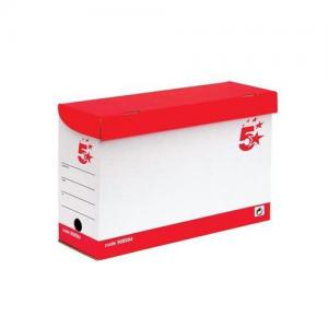 5 Star Office Large Transfer Cases - Red & White (Pkd 20)