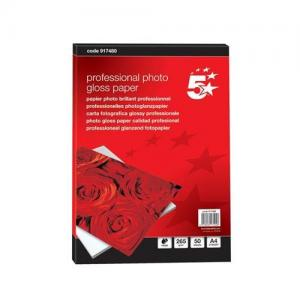 5 Star Office Professional Photo Gloss A4 Inkjet Paper