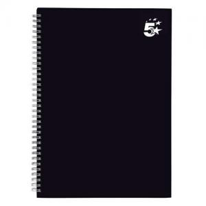 5 Star Office Twin Wire Hardback Notebook