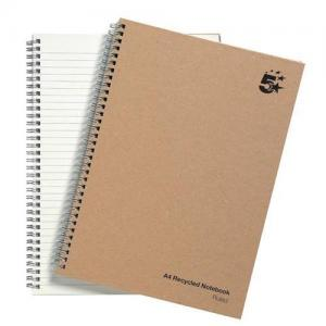 5 Star Eco Recycled Twin Wire Hardback Notebook