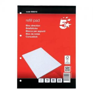 5 Star Office FSC Headbound Refill Pad with Margin