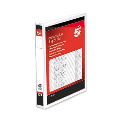 5 Star Office Four Ring Presentation Binder
