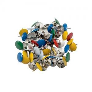 5 Star Office Coloured Drawing Pins (Pkd 100)