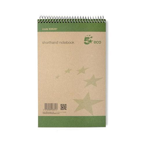 5 Star Eco Shorthand Wirebound Note Pads (Pk 10)