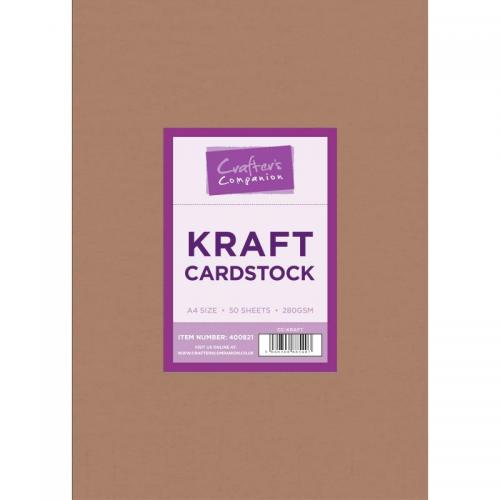 Crafter's Companion Brown Kraft A4 Cardstock (50 sheets)