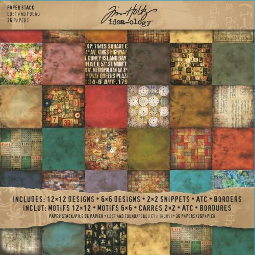 Tim Holtz Paper Stash, Lost and Found (36 pag