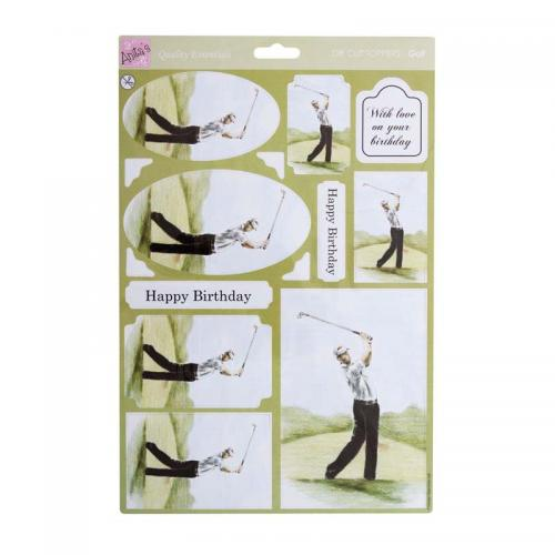 Anita's A4 Die-cut Toppers - Golf