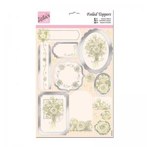 Anita's A4 Die-cut Toppers - White Rose
