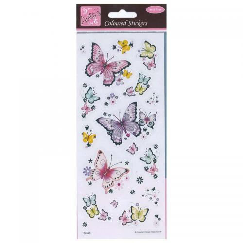 Anita's Coloured Stickers - Beautiful Butterflies
