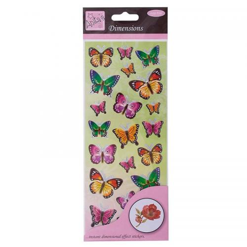 Anita's Dimensions - Butterflies - Green/Lilac