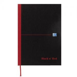 Oxford Black n'Red Matt Casebound Hardback A6 Notebook