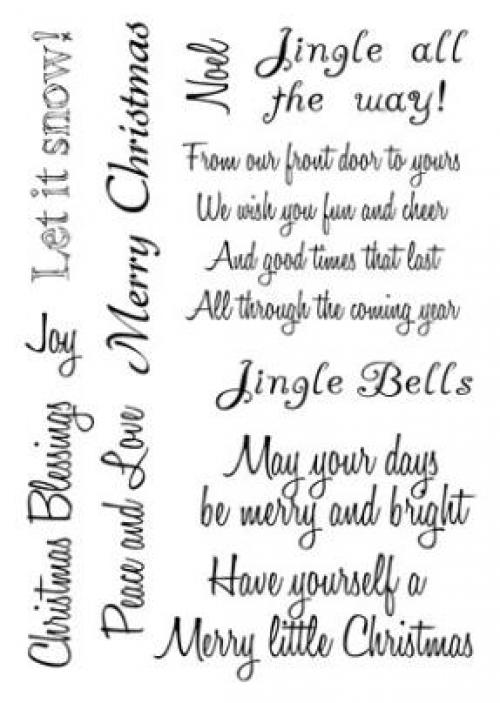 Card-io Clear Stamps - Christmas-Sentiments