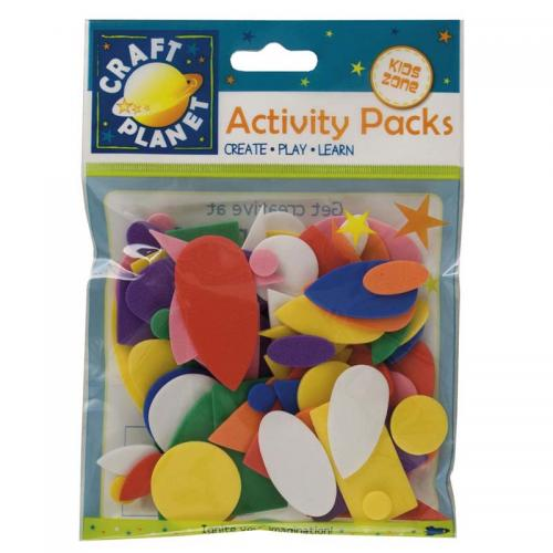Craft Planet Crafty Foam (75pcs) - Shapes