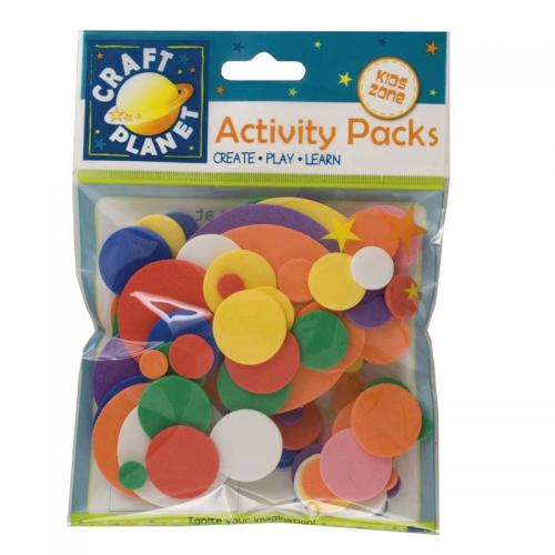 Craft Planet Crafty Foam (75pcs) - Circles