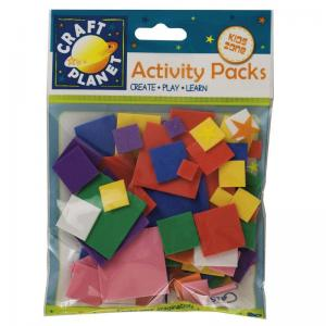 Craft Planet Crafty Foam (75pcs) - Squares