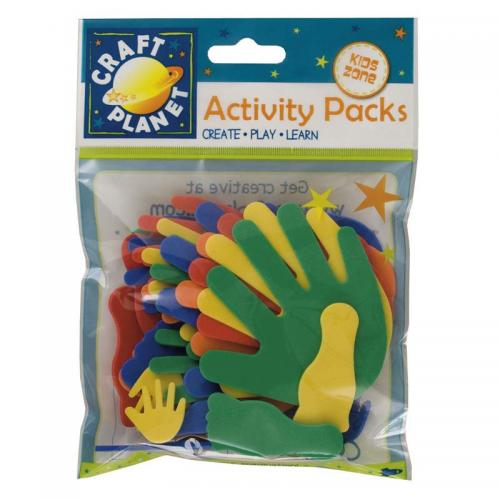 Craft Planet Crafty Foam (30pcs) - Carnival Hands/Feet