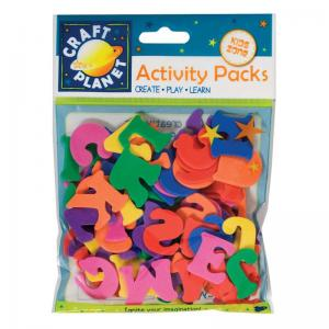 Craft Planet Crafty Foam - Letters (3 Sets) (25mm)