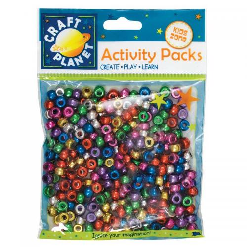 Craft Planet Pony Beads (approx 300pcs, 80g)