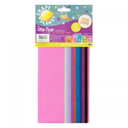 Craft Planet 50 x 66cm Tissue Paper 10 Sheets