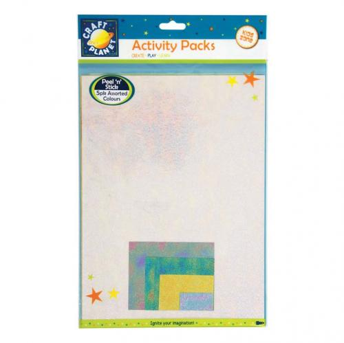 Craft Planet A4 Peel 'N' Stick Paper Iridescent Metallic (5pk)